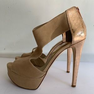 Michael Kors Bootie Heel - Suede and Rose Gold